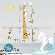 custom height record wall sticker Home Decoration for kid