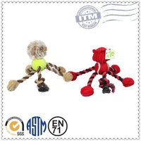 Factory Promotion Custom Made Plush Pet Products rope animal toy