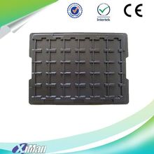 Custom Black Plastic ESD Antistatic Tray, PCB Tray, antistatic trays with lid