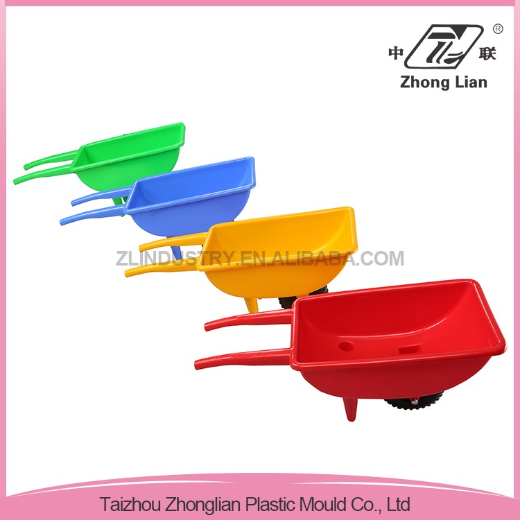 China factory colorful made kids plastic wheelbarrow toys