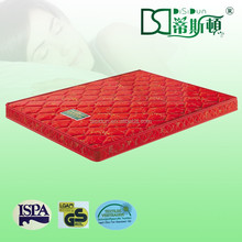 Foshan city red floral jacquard cover sleepwell bonnel cot size thin bed mattress