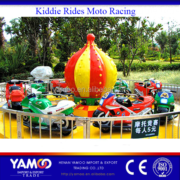 Indoor & outdoor amusement equipment kiddie ride park moto racing rides for kids