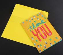 Creative solid color full color printed paper greeting cards/invitation cards with matched envelopes