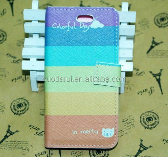 Retro Flag Eiffel Tower Pattern Leather Flip Book Cover Case for iPhone 4S