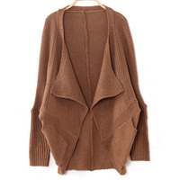 1pc latest fashion style new arrival free size batwing sleeve beautiful women loose cardigan knit jacket