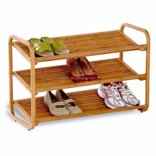 Bamboo Shoe Rack Organizer Storage Bench,2-Tier Bamboo Slatted Shoe Rack