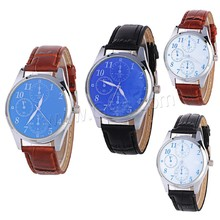 Wrist Watch PU with Glass Zinc Alloy watch men 2016 men hand watch winner