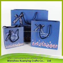 Simple custom logo print high quality wholesale custom made paper shopping bags