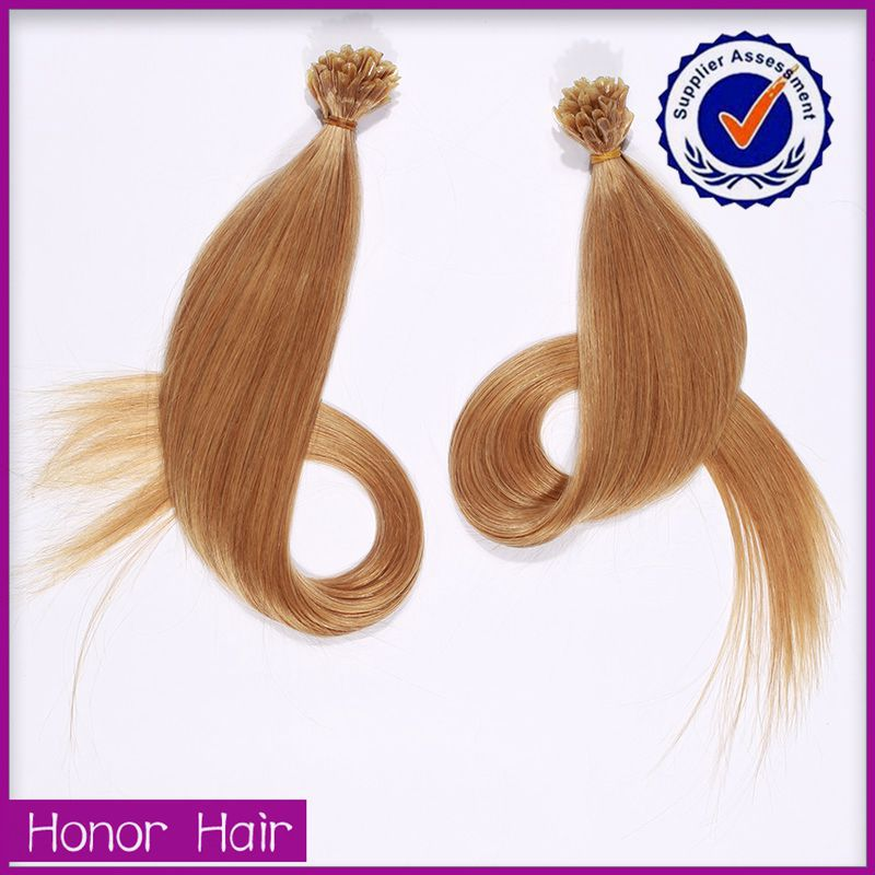 Qing dao Honor hair factory wholesale 100 cheap remy u tip hair extension