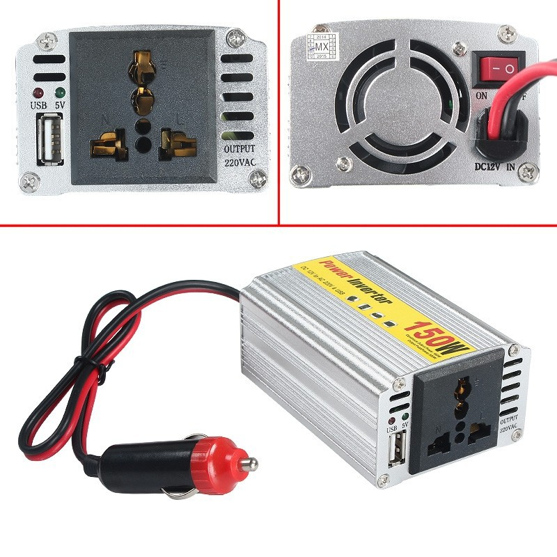 Best Car Power Inverter For 12V DC to AC Power Conversion <strong>w</strong>/ USB & High Watt Rating For Autos