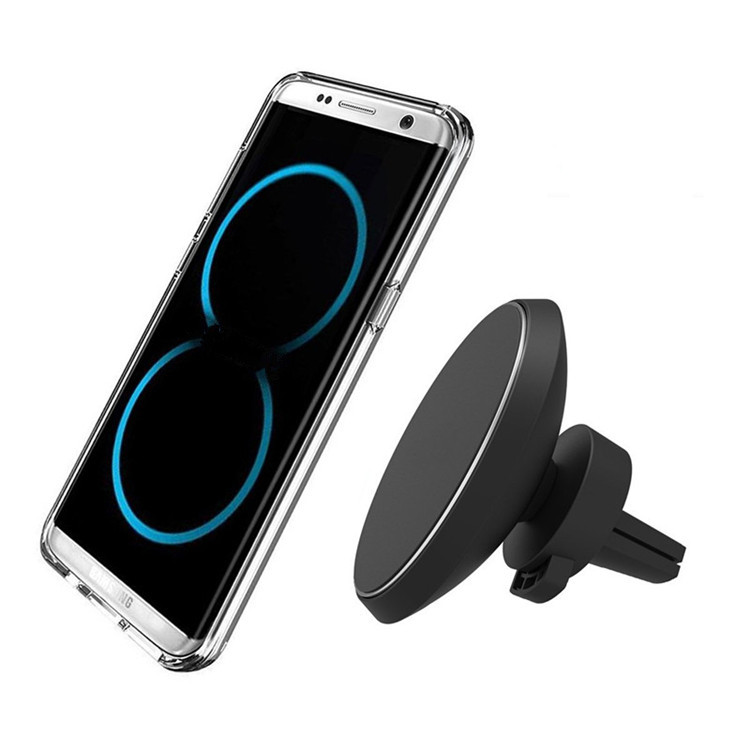 Magnetic Qi Wireless Car Charger Mount Mobile Phone Air Vent Magnet Car Cradle Charging Holder for Samsung Galaxy Note 8 S8 Plus
