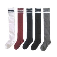 Hot sale Fashion Warm High Over Knee Socks,Stripe Sexy Stretch Thigh High Socks For Girls