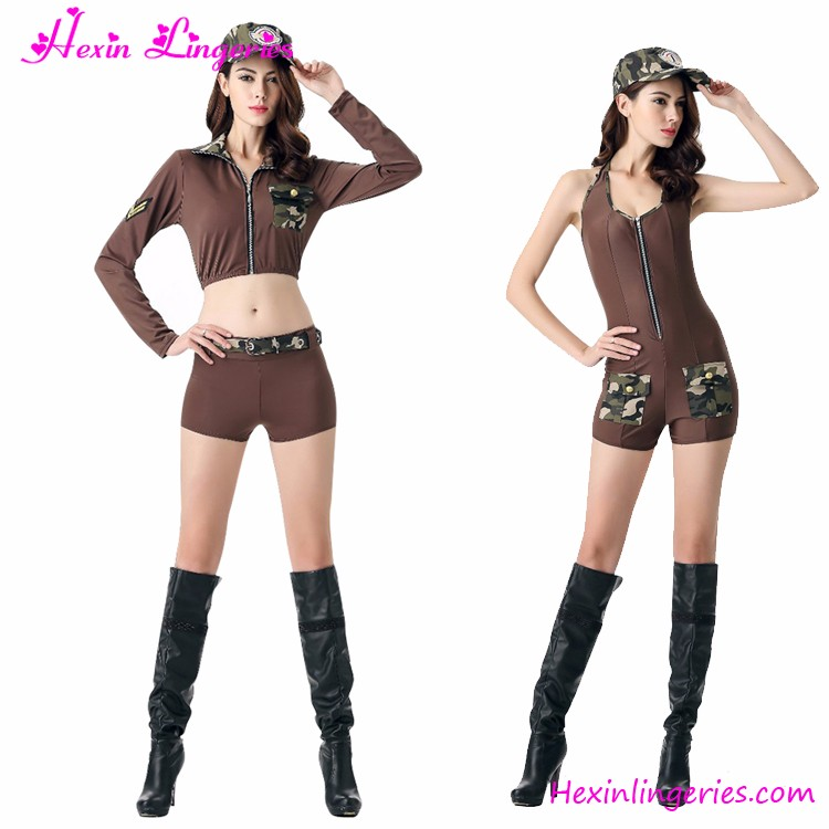 Sexy Army Soldier Women Camouflage Military Costumes