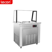 Factory Direct Sale Thailand Rolled Ice Cream Machine with Round Pan