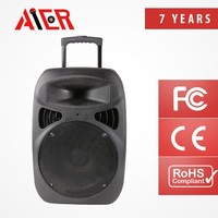 15'' portable active battery 200W speaker gadget karoake speaker active speaker with battery /usb/sd card