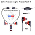 2017 China New Stylish fashion sport headset, magnet attraction earbuds with noise cancelation