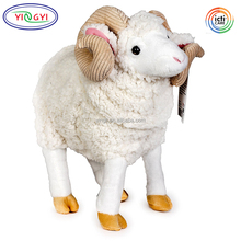 F430 15 Inch Shu Velvet Large Sheep Goat Stuffed Animal Plush Toys Cartoon Animal Goat
