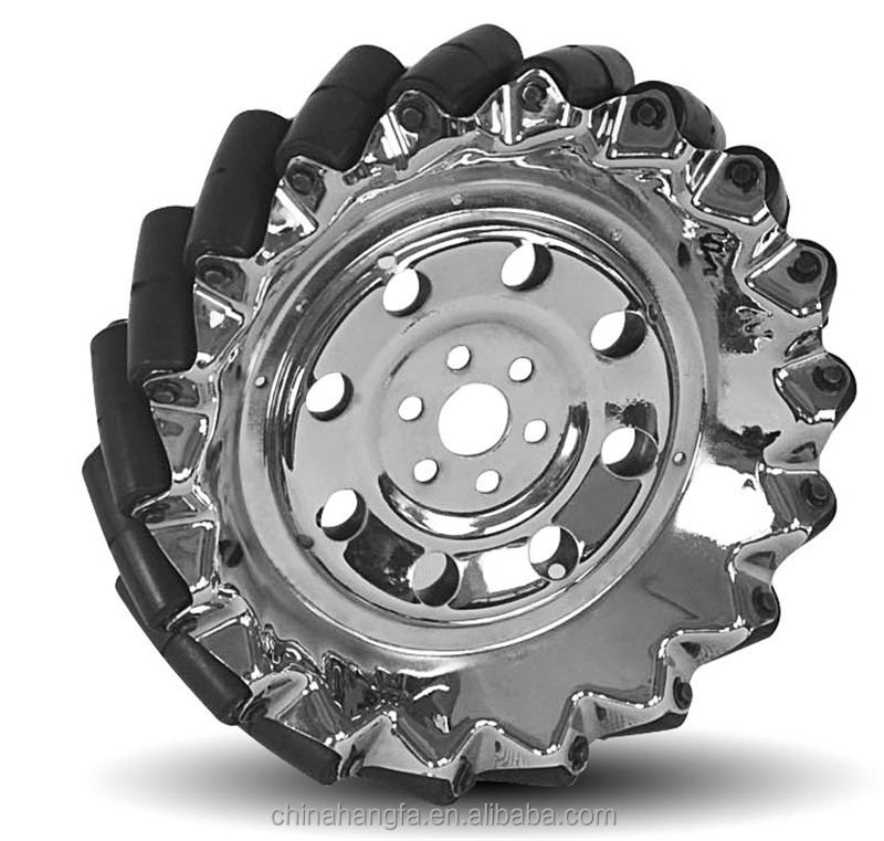 203mm Heavy Duty mecanum wheel with Pu <strong>Roller</strong> (professional custom,payload:40KG/pcs )