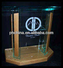 RD-541 Hot Sell Perspex Dais&Pulpit;Perspex Pulpit;Acrylic Wood Pulpits