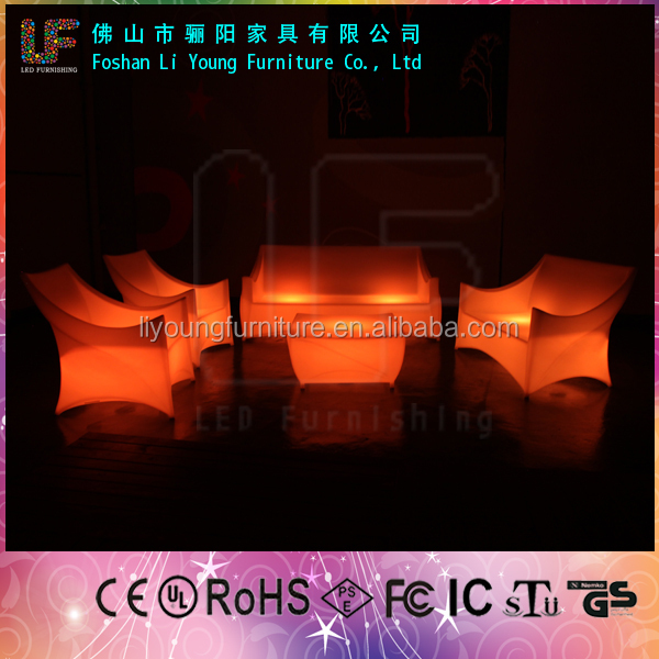 LED illuminated classical cheap sofa set LGL61-9301