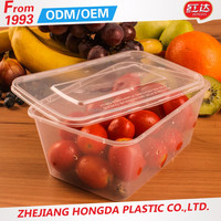 Hot sale fresh keeping plastic rectangular take away food container