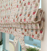 wholesale lovely Printed fabric of roman blinds shades in China