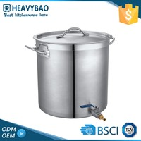 Export Quality Stainless Steel Satin Polishing Half Round Pots