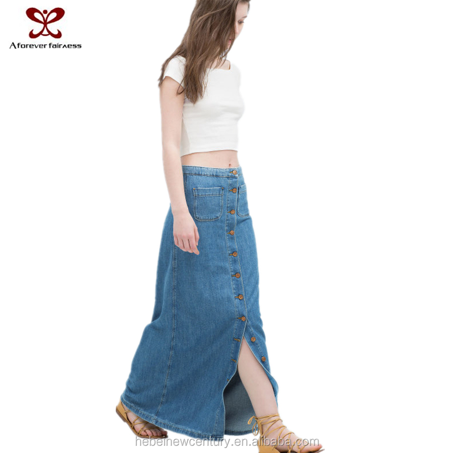 2015 New fashion dress Europe America wind Single button cowboy bust skirt street jeans dress