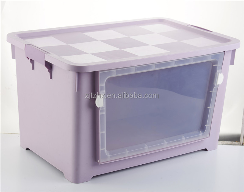 Plastic Colorful 70L Storage Boxes for Clothes
