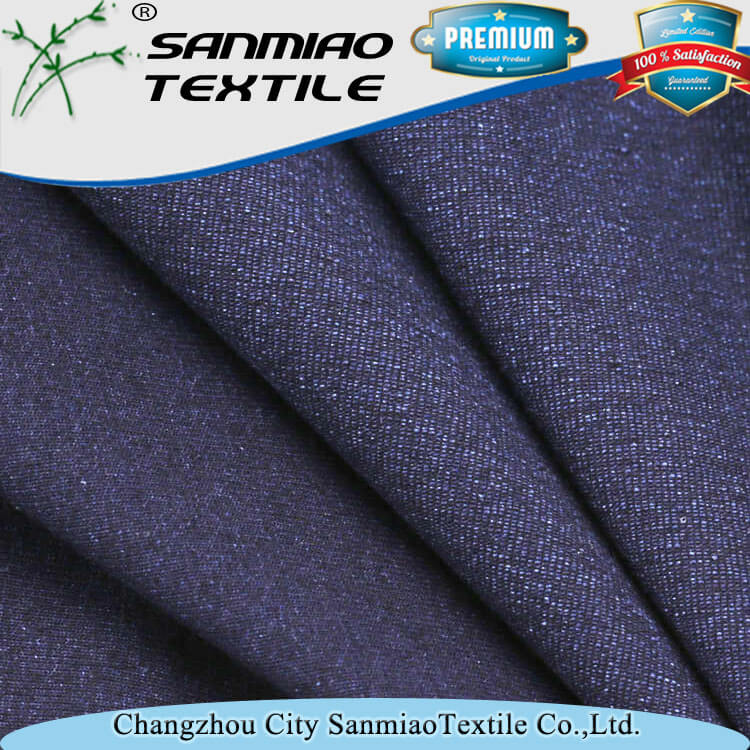 Changzhou textile 100 cotton single jersey knitted denim fabric for t shirt WHCP-20