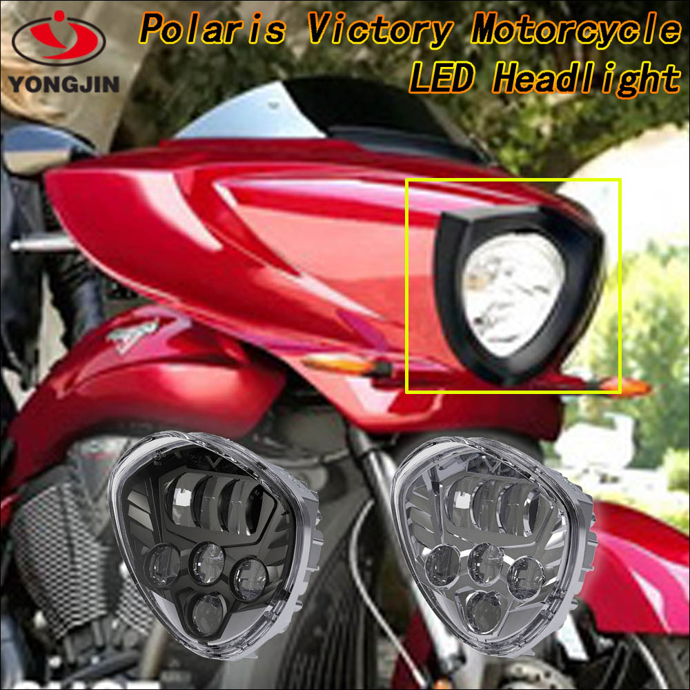 Professional led motorcycle headlight,motorcycle led driving lights for Polaris Victory Motorcycle