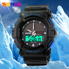 Hot Solar Power Dual Movement Watches Custom Brand Watch For Outdoor Work