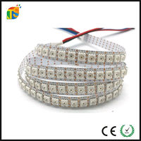 4 pin wires, DATA and CLK seperately smd 5050 144 led pixel strip apa102