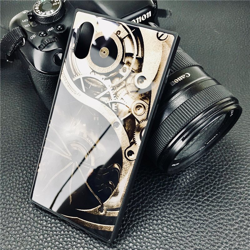 New Arrival Tempered Glass Back Cover Case For iphone Skin