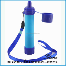 Outdoor survival personal water filter straw ,water purifier kit for camping