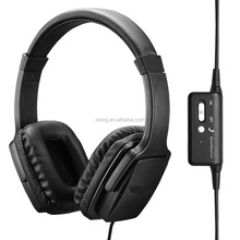 Active Noise Cancelling Headphones with Built-in MIC, Stereo Over-Ear Headset For Mobile Phone Gaming PC
