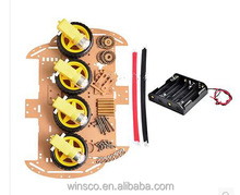 4WD Smart Robot Car Chassis Kit with Speed Encoder New