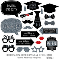 Customized 20 Silver Graduation Photo Booth