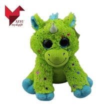 Hot selling creative custom baby green shining plush unicorn toy