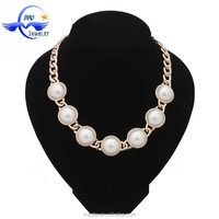 2015 new arrival necklace jewelry,simple gold handmade freshwater pearl necklace