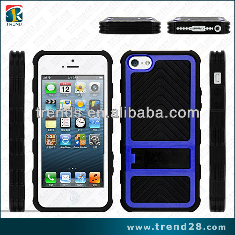 non slipping wheel design tpu pc hybrid combo outdoor case for iphone 5 5s