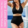 Hot black women plus size high waisted xxxl sexi girls bikini swimsuits
