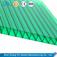 Top Quality UV Protection Twin Wall Hollow Polycarbonate Sheets