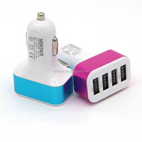 4 USB Port Car Charger for Tablet PC Cell Phone or Other Digital Products