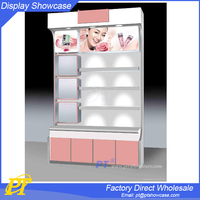 cosmetic shop display furniture ,makeup station with lights