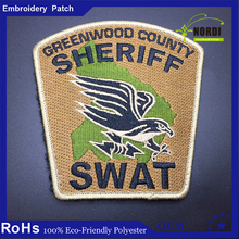 Custom woven patches textile custom Silk Screen patches/Sample name tags