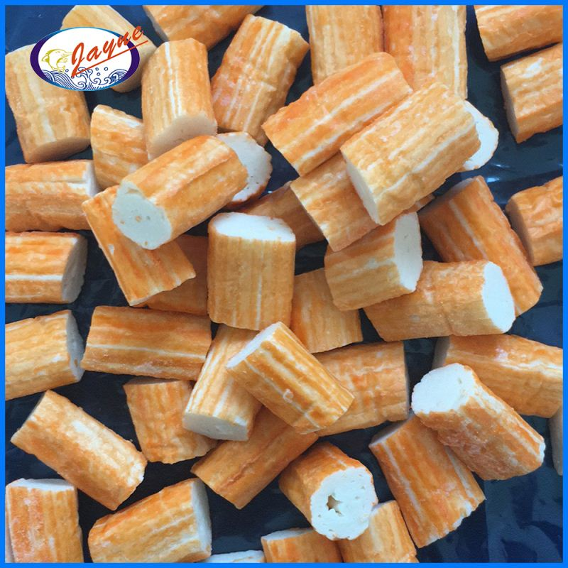 Delicious frozen surimi orange color with 2 years shelf life