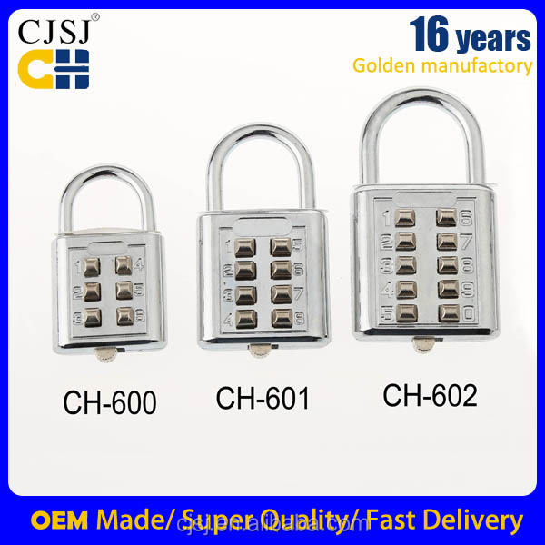 CH-602 Bags padlock luggage high quality 10 digit gym fingerprint locker lock