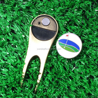 Most Popular metal magnetic divot tool golf ball marker