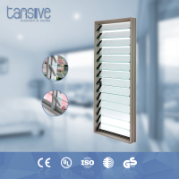 High quality double glazed aluminum adjustable glass louver window